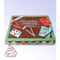 Праздничный торт школьный