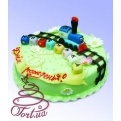Детский торт Веселый паровозик : заказать, доставка