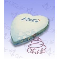 Торт на заказ «Сердце компании»