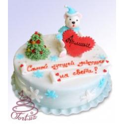 Детский торт Зимний мишка