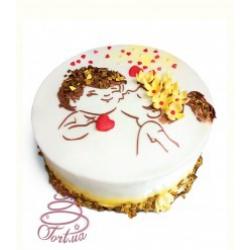 Торт на заказ День влюбленных