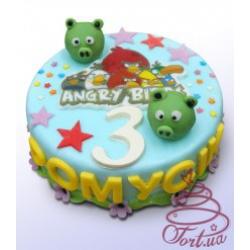 Детский торт Angry birds