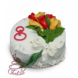 Торт на замовлення «8 Березня»