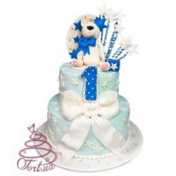 Детский торт  1-й День рождения