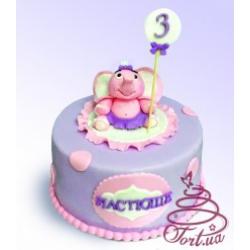 Детский торт  Розовый слоненок