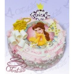 Детский торт на заказ  «Принцесса Бель»: заказать, доставка