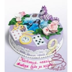 Детский торт  «Алиса в стране чудес» : заказать, доставка