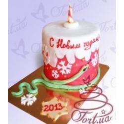 Торт на заказ «Новогодняя свеча»