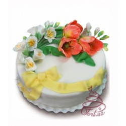 Торт на замовлення «Тюльпаны и фрезии» : заказать, доставка