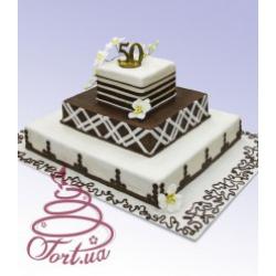 Праздничный торт Монблан