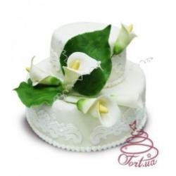 Свадебный торт «Праздничные каллы»