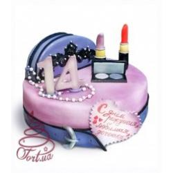 Детский торт с косметикой