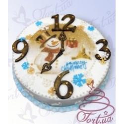 Торт на заказ «Новогодние часы»