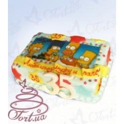 Торт на заказ «Симпсоны» : заказать, доставка