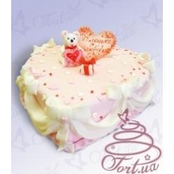 Торт на заказ «От всего сердца»