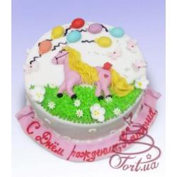Детский торт  «Маленькая пони»: заказать, доставка