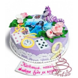 Детский торт  «Алиса в стране чудес»