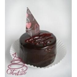 Пирожное Пломбир с клубникой в шоколаде