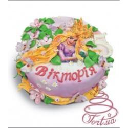 Детский торт Рапунцель