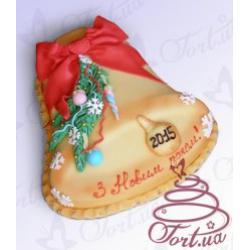 Торт на заказ «Новогодний колокольчик» : заказать, доставка