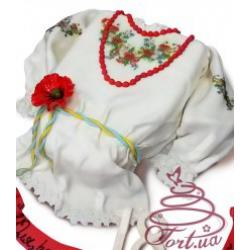 Торт на замовлення «Вишиванка»