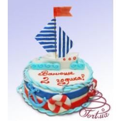Детский торт Кораблик