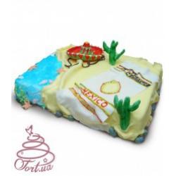 Торт на заказ Вокруг света. Мексика