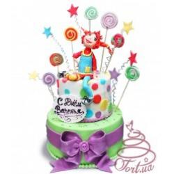 Детский торт на заказ  Веселая Пеппи