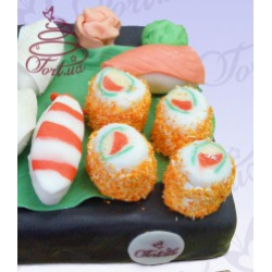 Торт на заказ «Суши»