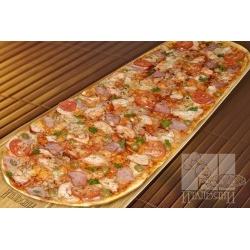 Party пицца с копченой курицей и балыком