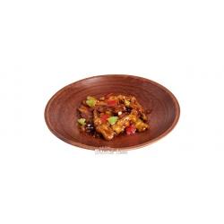 Легендарная китайская закуска: баклажан с болгарским перцем