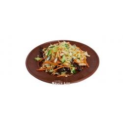 Традиционный овощной салат с кунжутным маслом