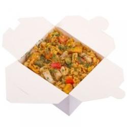 Рис с телятиной в остром тайском соусе