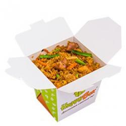 Жареный рис с курицей Наси Горенг