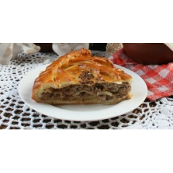 Пирог с мясом и блинчиками: заказать, доставка