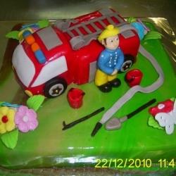 Торт Пожарная машина