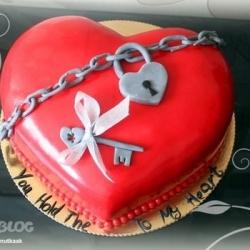 Торт Сердце на замке