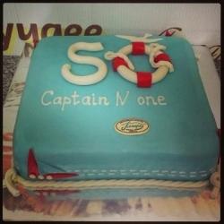 Торт 50 морская тема : заказать, доставка