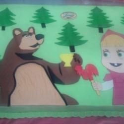 Торт Маша и медведь 2