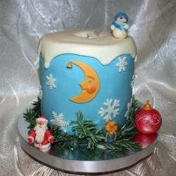 Торт Новогодний снеговик