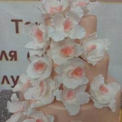 Торт Свадебный персик