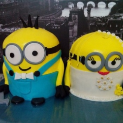Торт Свадьба Миньонов