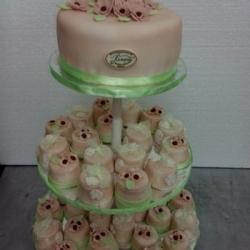 Торт Свадебный бежевый