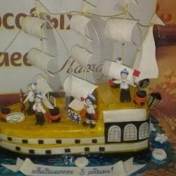 Торт Корабль с юнгами