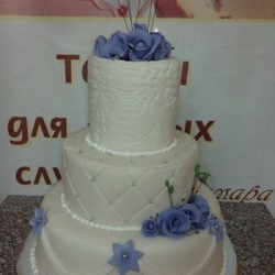 Торт Свадебный с синими розами