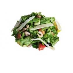 Салат с креветками и лососем