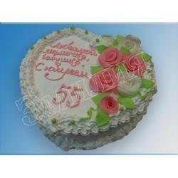 Торт сердечко №12