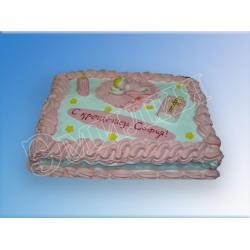 Торт на крестины №11