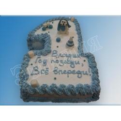 Торт цифра №18