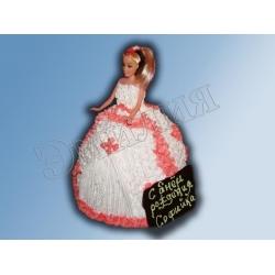 Торт кукла №6